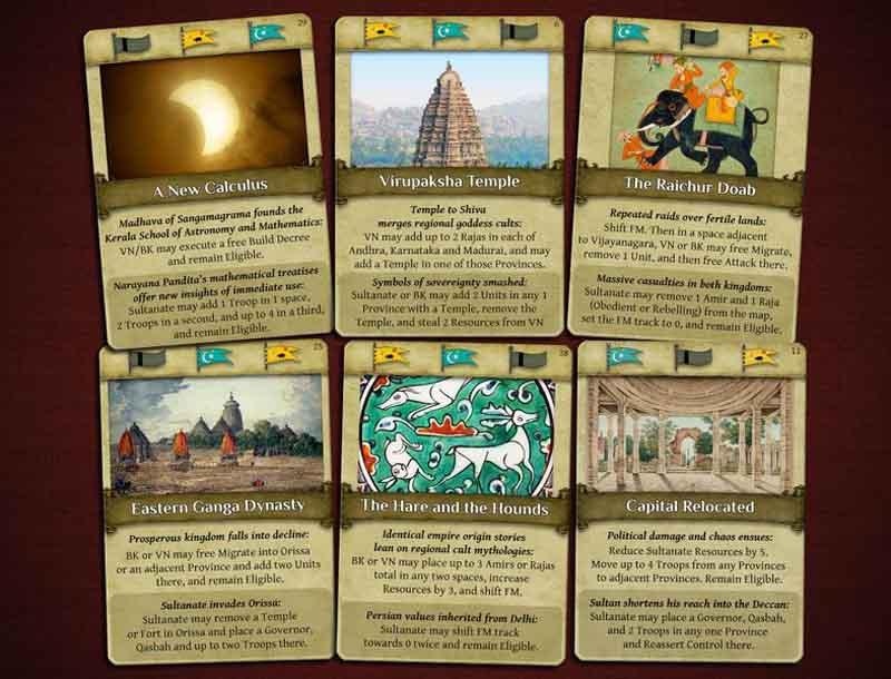 Cartas del juego Vijayanagara