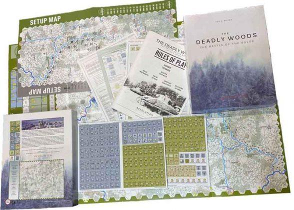 Contenido de la caja de The Deadly Woods: The Battle of the Bulge