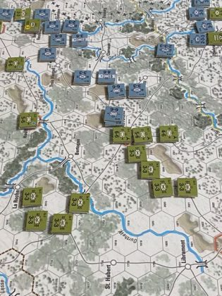 Fichas del juego The Deadly Woods: The Battle of the Bulge