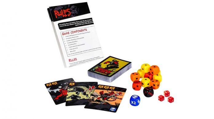 componentes de hellboy the dice game