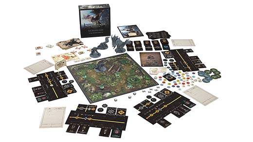 Componentes de Monster Hunter World The Board Game