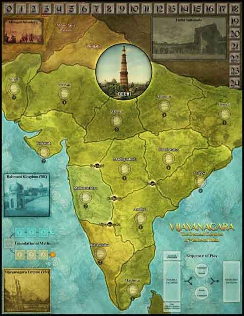 Tablero del juego Vijayanagara