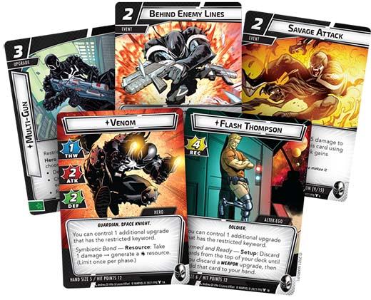 Cartas de Venom Hero Pack de Marvel: Champion LCG