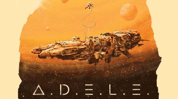 Detalle de la portada del juego de tablero ADELE