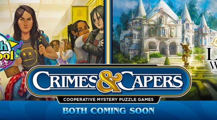 logotipo de Crimes & Capers la nueva serie de Renegade Games