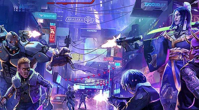 Detalle de la portada de Cyberpunk Red: Combat Zone