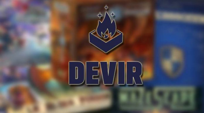 Logo de Devir con fondo