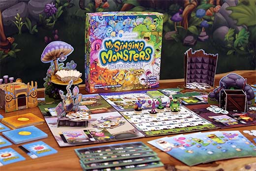 Componentes de My Singing Monsters: The Board Game