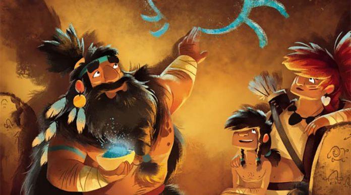detalle del arte de la portada de Prehistorias