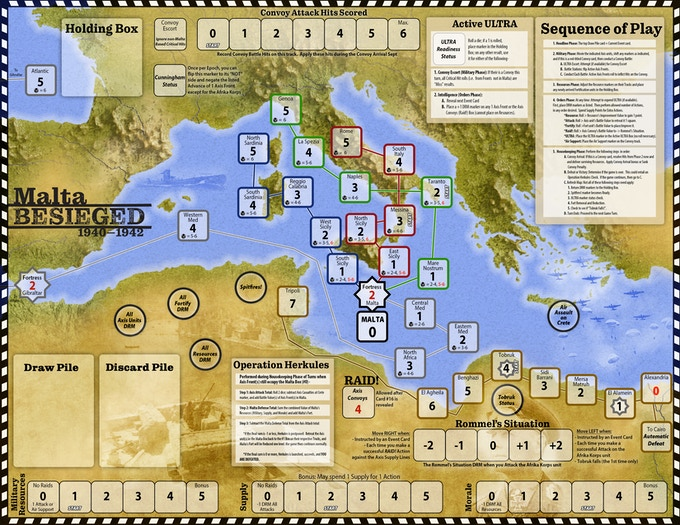 Tablero de Malta Besieged