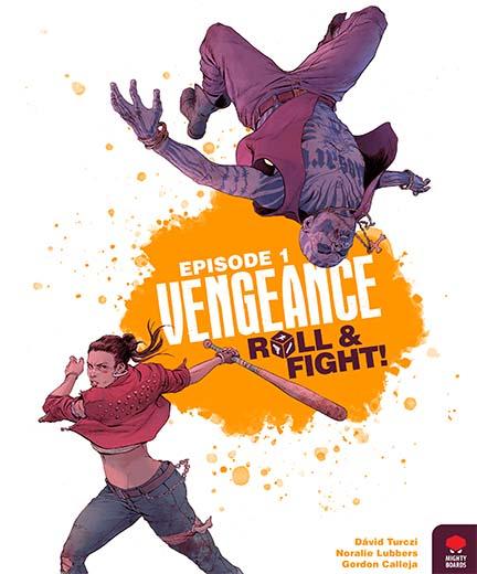 Portada del juego de tablero Vengeance Roll and Fight!