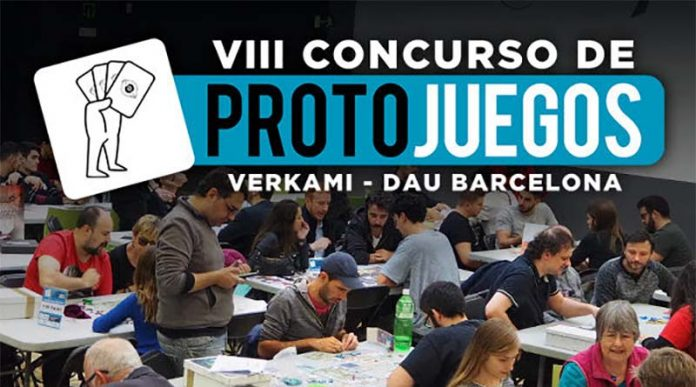 Logotipo del 8º concurso de protojuegos Verkami-Dau Barcelona