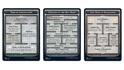 Cartas de dungeon en Magic: The Gathering's Adventures in the Forgotten Realms