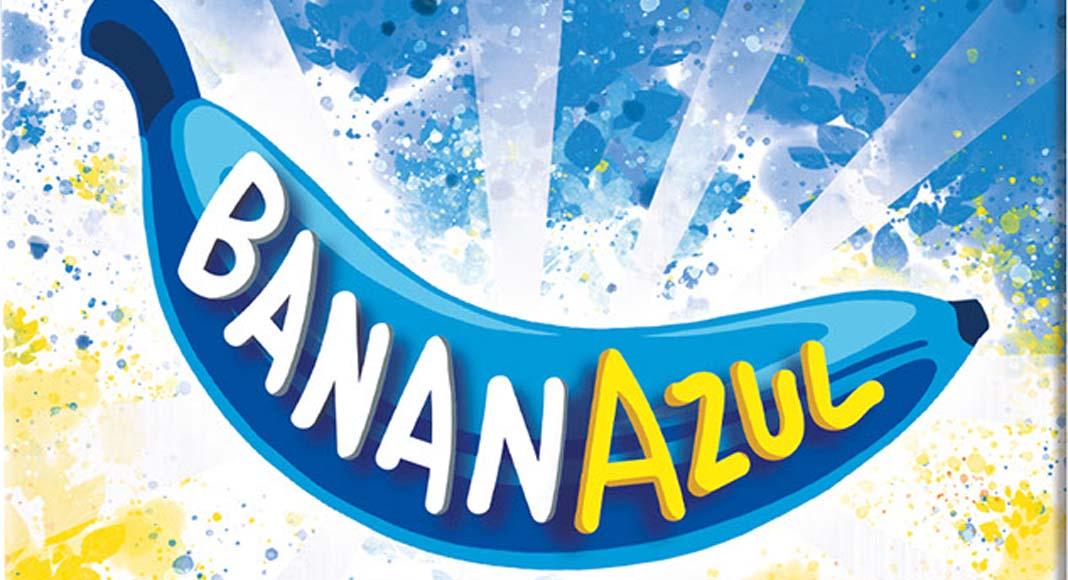 Detalle de la portada del juego de mesa Banana Azul