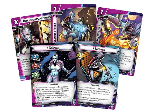 Cartas del Pack de héroes Nebula