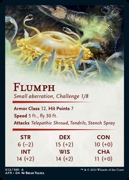 Carta de Flumph de MTG Aventuras en los Reinos Olvidados