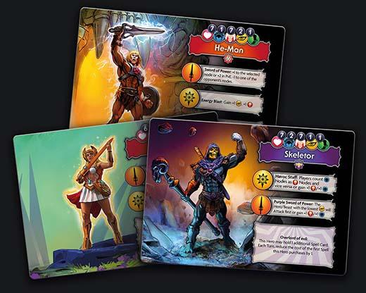 Cartas de heroe de Masters of the Universe Fields of Eternia
