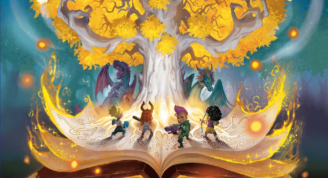 Detalle del arte de la portada de Wonder Book