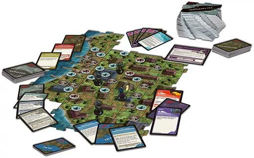 Componentes de Ghosts of Saltmarsh the board game