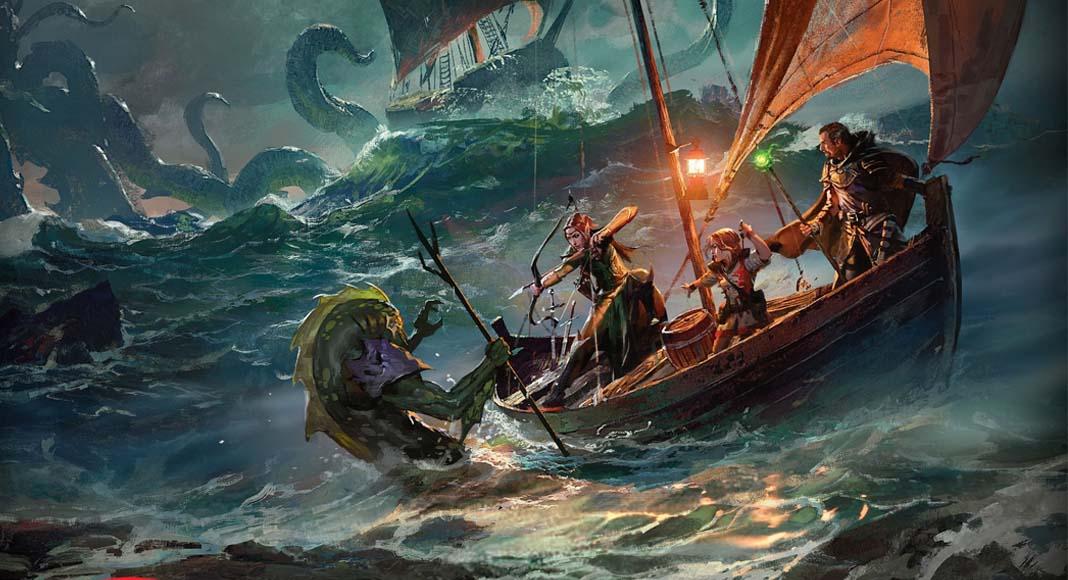 Detalle de la portada de Ghosts of Saltmarsh the board game