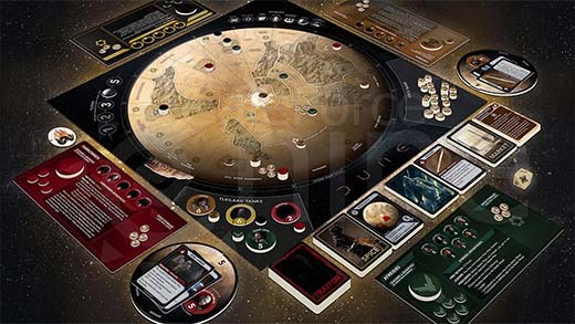 Componentes de Dune A Game of Conquest and Diplomacy