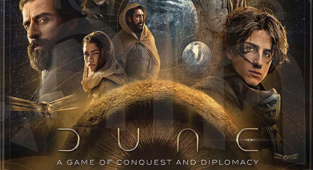 Detalle de la portada de Dune A Game of Conquest and Diplomacy