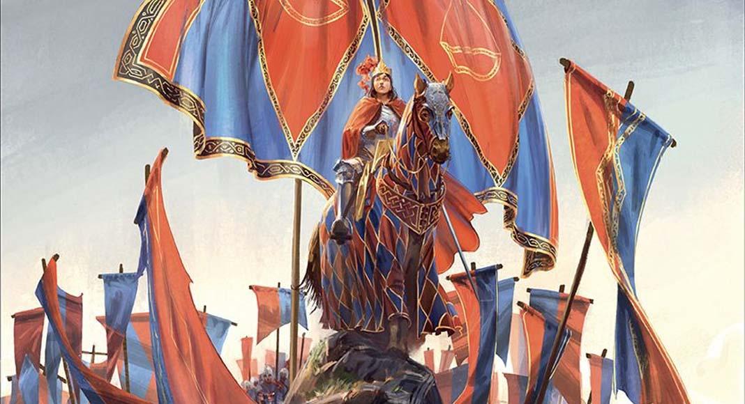 Detalle de la portada del juego de tablero The Queen's Dilemma