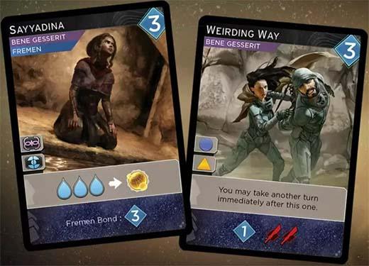 Cartas de la expansión para Dune: Imperium Rise of Ix