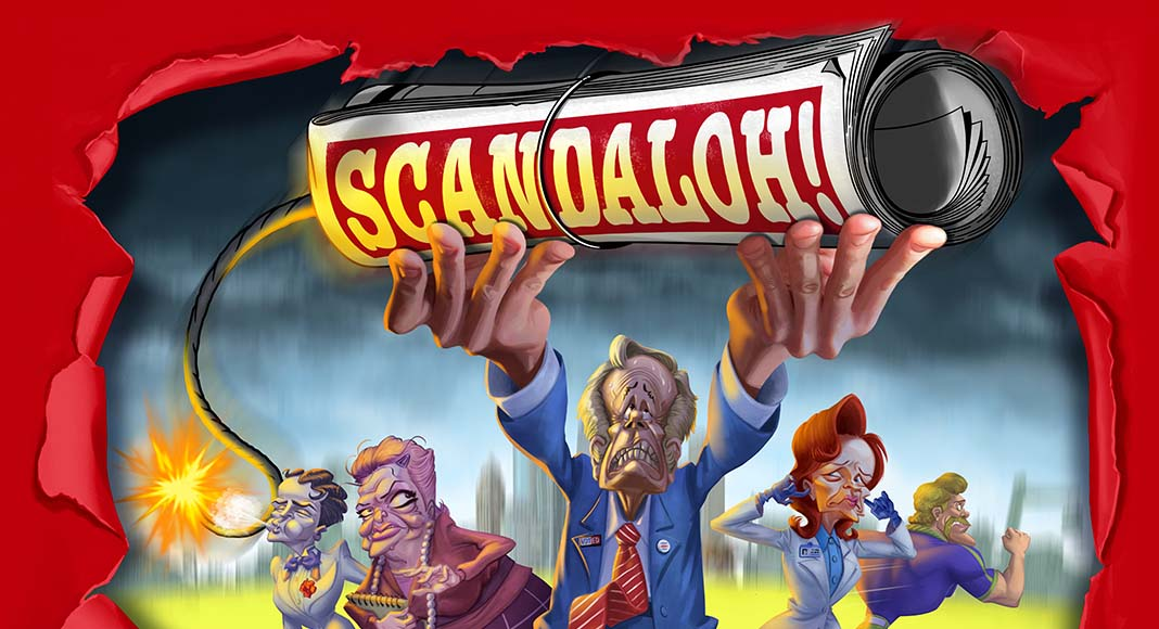 Detalle de la portada de Scandaloh!