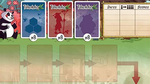 Tablero de la versión cooperativa de Takenoko