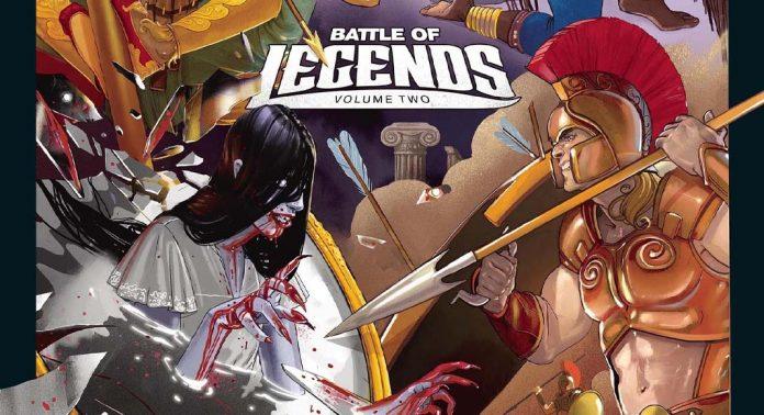 Detalle de la portada de Unmatched Battle of Legends Volumen 2