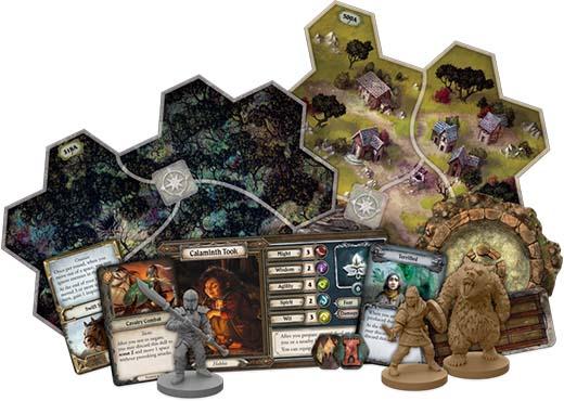 Componentes de la expansión para El Señor de los Anillos: Viajes por la Tierra Media Vientos de guerra