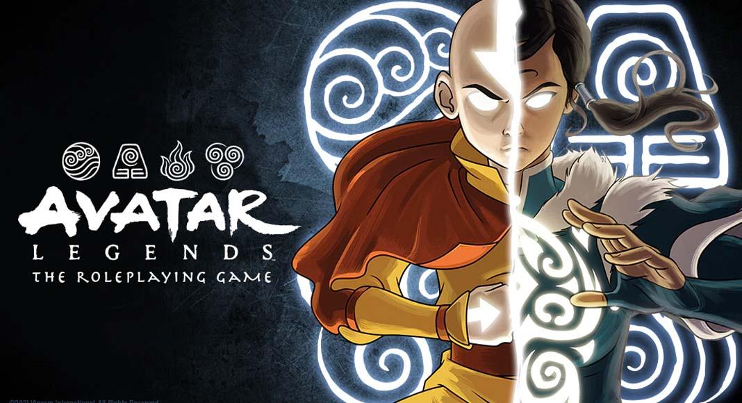 Banner de la portada del juego de rol Avatar Legends