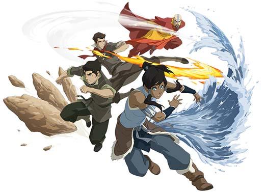 Ilustración del juego de rol Avatar Legends