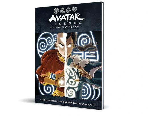 Portada del juego de rol Avatar Legends
