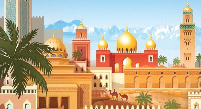 Detalle de la portada de Marrakesh