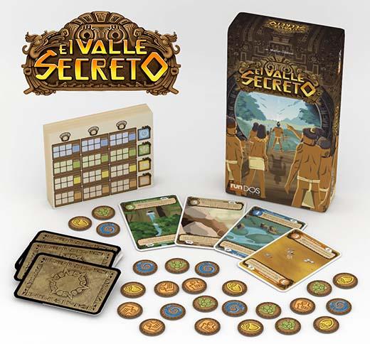 Componentes del juego de tablero el valle secreto