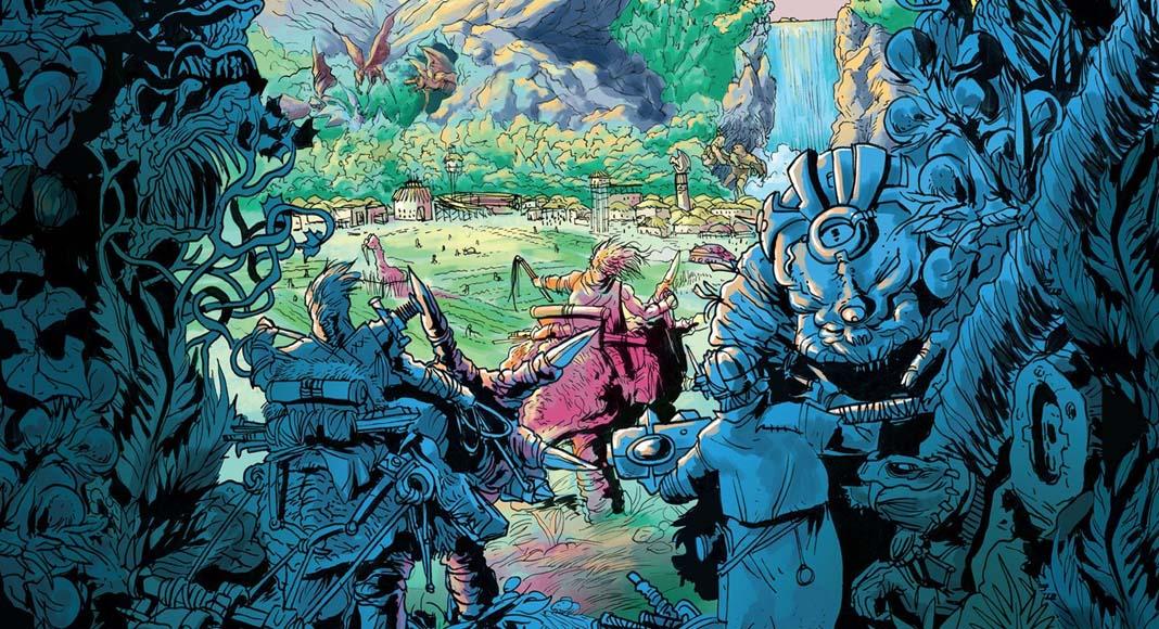 Detalle de la portada de Fate of Fantos The Iridium Wars