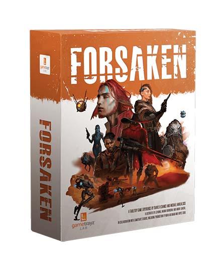 Portada del juego de mesa Forsaken