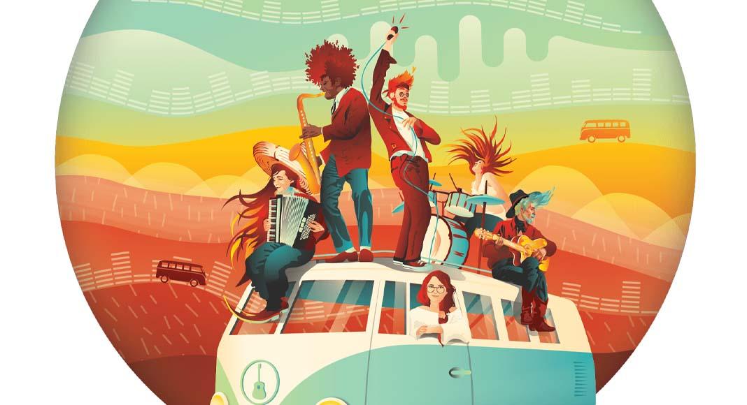 Detalle de la portada de On Tour