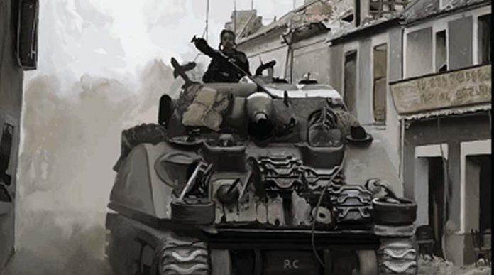 Detalle de la portada de World at War Europe