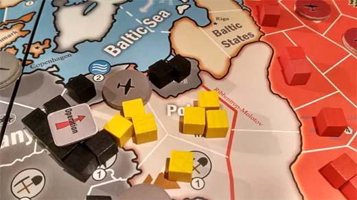 Detalle del tablero de World at War Europe