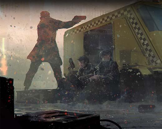 Arte de Blade Runner The Roleplaying Game