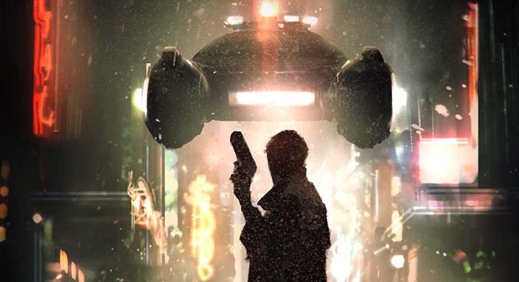 Detalle de la portada de Blade Runner The Roleplaying Game