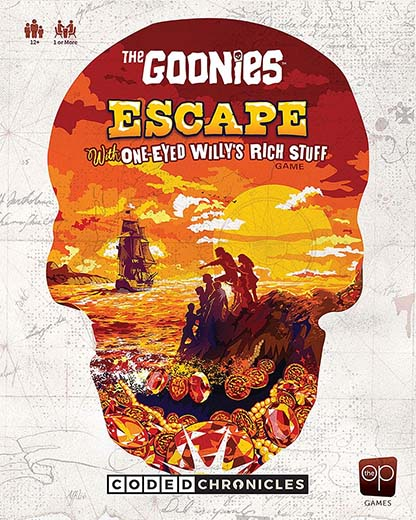 Portada de Los Goonies: Escape with One-Eyed Willy's Rich Stuff - A Coded Chronicles Game