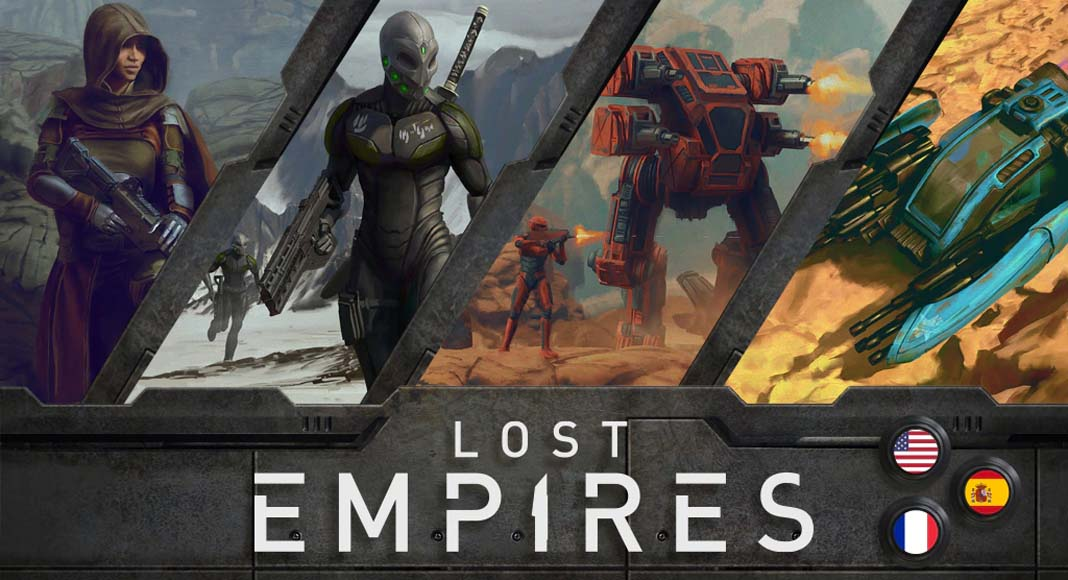 Imagen promocional del juego de mesa Lost Empires War for the New Sun