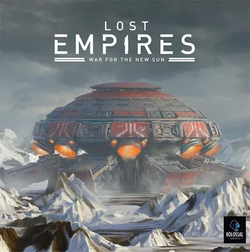 Portada del juego de tablero Lost Empires War for the New Sun