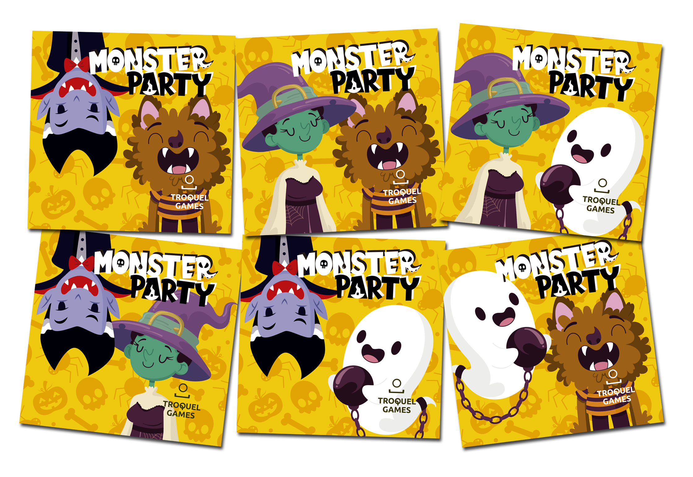 Portadas alternativas del juego de tablero Monster Party