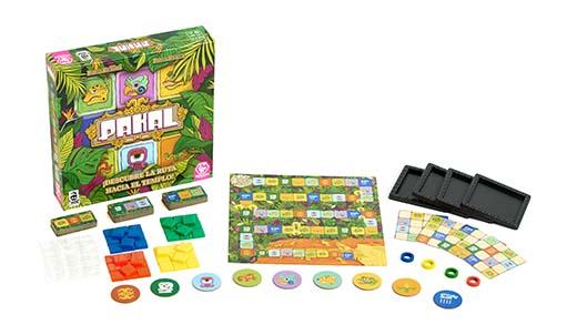 Componentes de Pakal el nuevo juego de tablero de tranjis Games